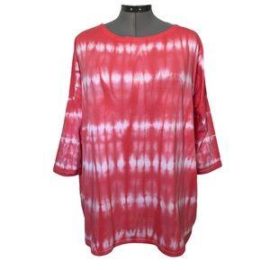 Tie dye Neon Buddha tunic t-shirt XL
